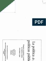 Cap. 6 - La Politica de Las Politicas Publicas