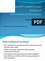 Facts, figures and the government's objectives for international students 2012