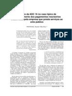 WESTFAHL, Daniela Villas Boas. O efeito da ADC 16 no caso típico de inadimplemento dos pagamentos rescisórios trabalhistas pela empresa que presta serviços ao ente público