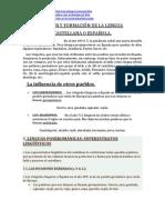 imprimir - ORIGEN Y FORMACIÓN DE LA LENGUA