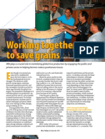 RT Vol. 8, No. 3 Working together to save grains