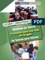 37 Tutoria y Orientación educativa. Sesiones de tutoria. Promoción para una vida sin drogas. De t