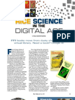 RT Vol. 8, No. 2 Rice science in the digital age