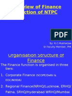 Overview of Ntpc Finance Function