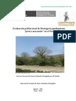 Evaluacion Poblacional de Brotogeris pyrrhopterus perico macareño en el Perú