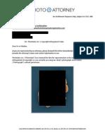 """Photo Attorney """"Leslie Burns"""" Settlement Demand Letter"""