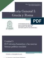 U 3. El Universo homérico y las nuevas formas político-sociales