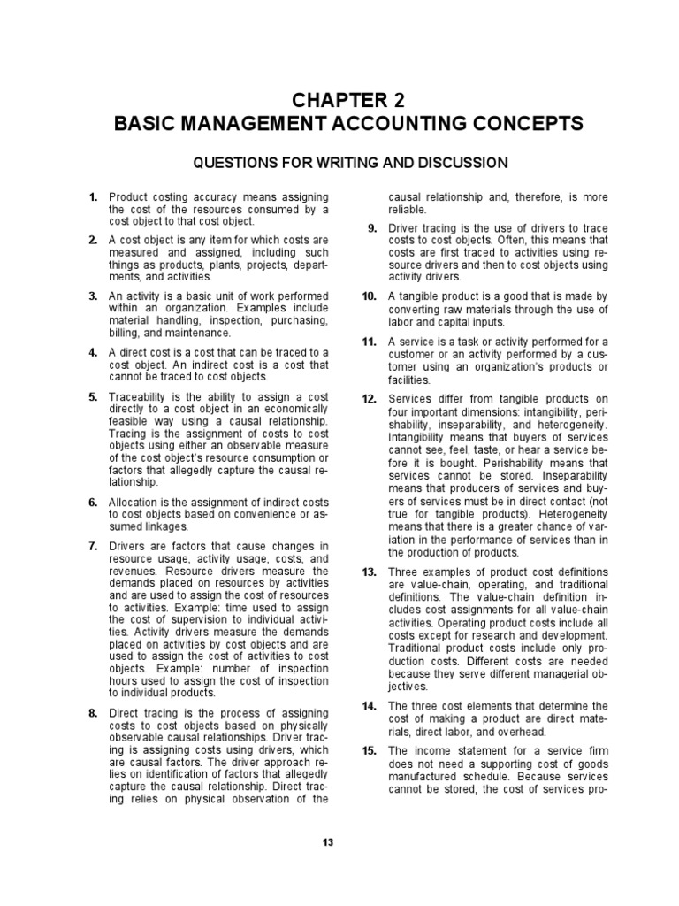 Solution Manual, Managerial Accounting Hansen Mowen 8th