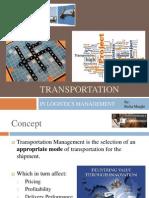 Transportation in Logistics Management