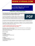 STRATEGY and Guidelines - IAS General Studies Prelims and Mains Integrated Approach