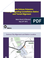 Westside Subway Extension power point for May 24 Board Mtg