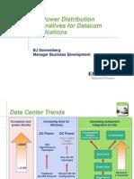 380 VDC Power Distribution Alternatives for Datacom Applications