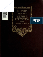 Music and the Higher Education