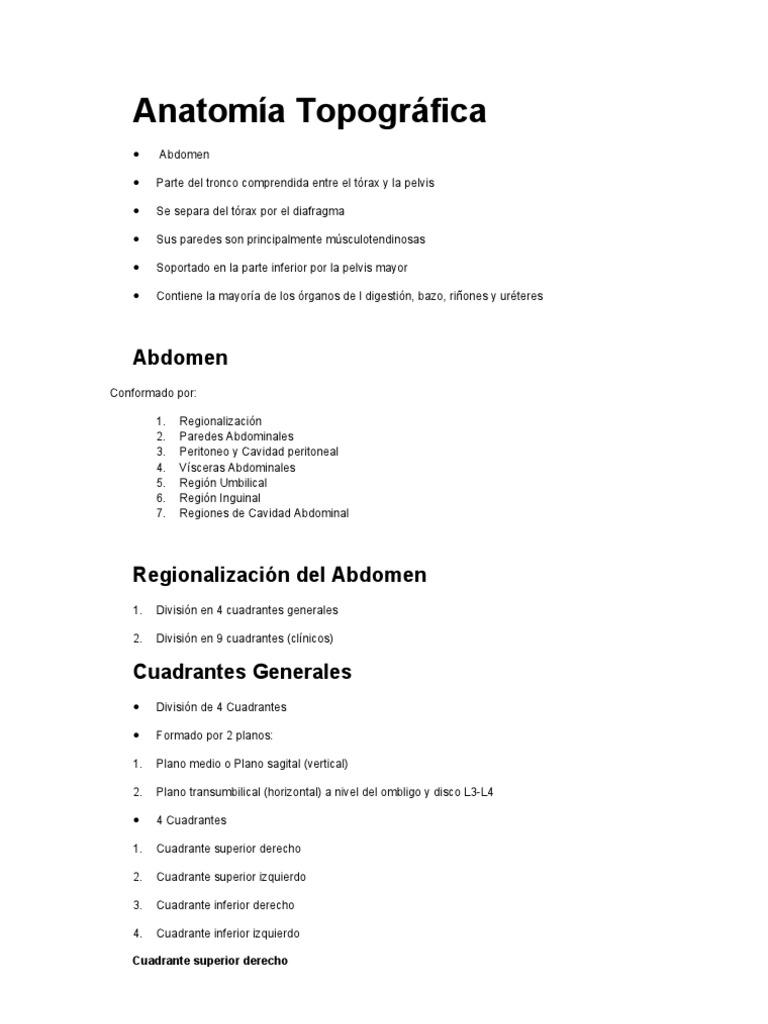Anatomía Topográfica Abdomen 2010