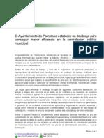 Decálogo contratación eficiente del Ayuntamiento de Pamplona