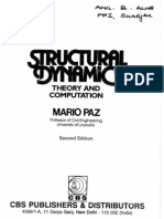 Structural Dynamics Theory and Computation by Mario Paz 2 Edition