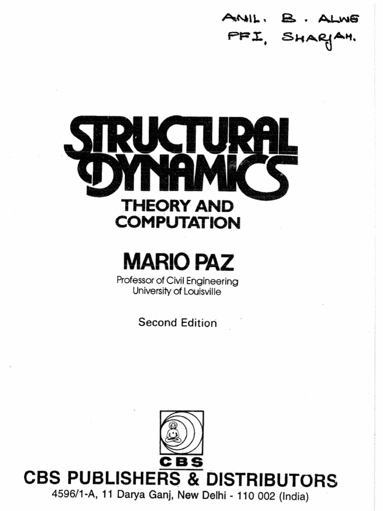 Structural Dynamics Theory and Computation by Mario Paz 2