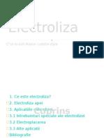Electroliza Proiect Ppt