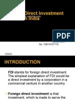 FDI Inflows in India