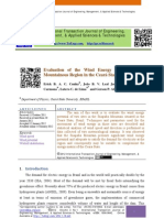 Evaluation of the Wind Energy Potential of a Mountainous Region in the Ceará State, Brazil