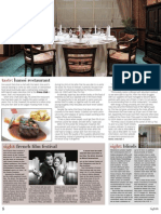 The Press Club's Executive Chef Marcel Isaak in HighLife May 2012