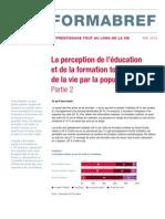 Formabref - La perception de l'éducation et de la formation tout au long de la vie par la population active - Partie 2