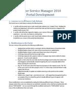 System Center Service Manager 2010 Custom Portal Development