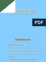 Healthcare Management of Elderly People