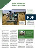 A mini-combine for sub-Saharan Africa