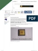 Gold content list in Ceramic CPUs processors chips