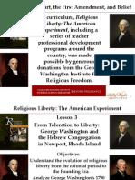 Religious Liberty Lesson 3