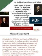 Religious Liberty Professional Development