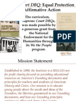 SCDBQ Equal Protection Professional Development
