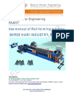 User Manual Forming Machine