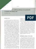 Estéticas privadas y estéticas públicas en la producción y consumo del paisaje rural