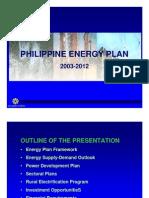 PH Energy Plan 2003-2012