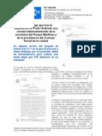 Corrales exige que tras la imputación de Pedro Doblado sea cesado fulminantemente de la secretaria del Parque Marítimo y de la presidencia del Consejo Social de la ciudad