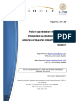 Policy coordination in systems of innovation