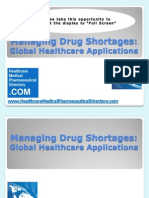 Managing Drug Shortages - Global Healthcare Applications