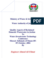 Quality Aspect Sof Reclaimed Waste Water in Jorda 2004