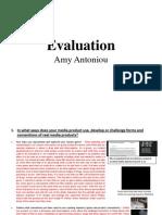 Amy Antoniou Evaluation