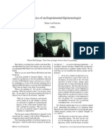 Metaphysics of an Experimental Epistemologist (von Foerster)
