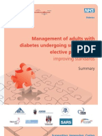 Management of Adults With Diabetes Undergoing Surgery and Elective Prodcedures Summary