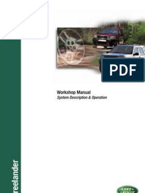 Freelander Workshop Manual 2001 Piston Throttle