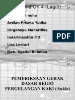 Terapi Manual Pada Regio Pergelangan Kaki