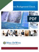 Civilian Background Check Training Manual