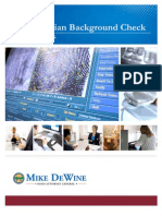 Civilian Background Check Training Manual