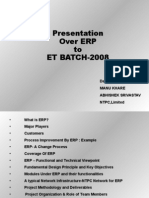 Presentation Over ERP to ET-2008
