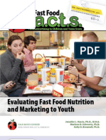 Fast Food Facts Report Summary
