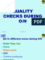 Quality Checks During Overhaul